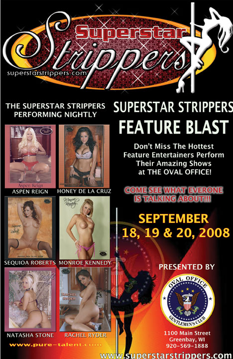 Superstar Strippers Feature Blast Poster